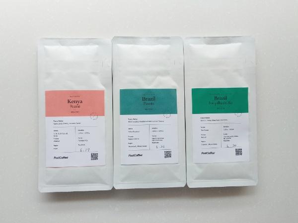 PostCoffeeからのコーヒー3種