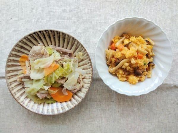 ヨシケイ時短ミールキットの食事(月曜)