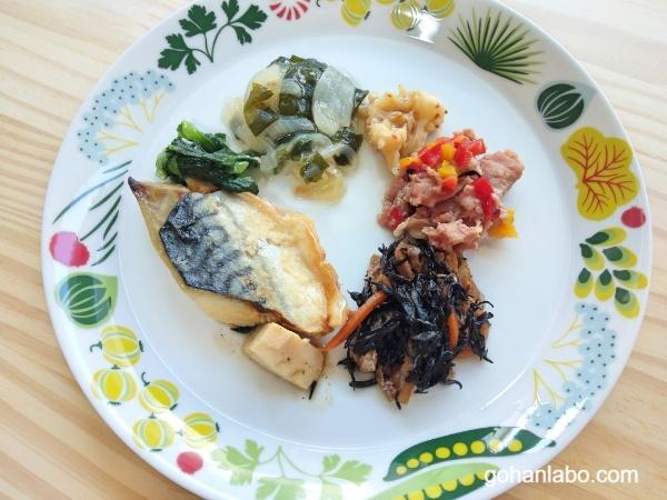 食宅便低糖質A鯖の塩麹焼き(盛り付け)