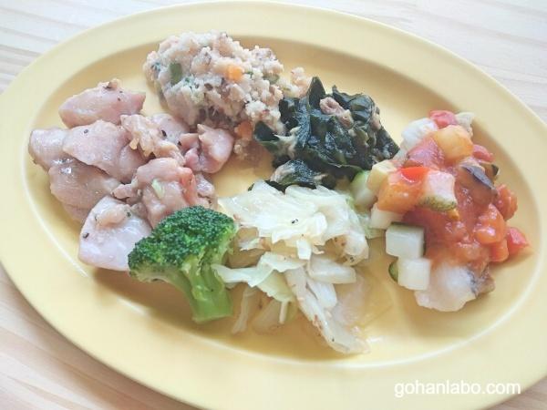食宅便低糖質A鶏のレモンペッパー焼き(盛り付け)