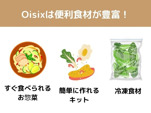 オイシックスは便利食材が豊富
